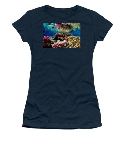 Coral Reef Women's T-Shirt (Junior Cut) by Carol Crisafi