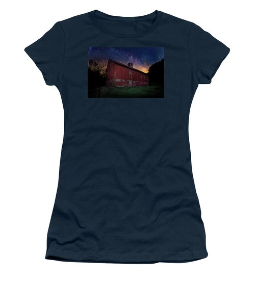 Women's T-Shirt (Junior Cut) featuring the photograph Cosmic Barn by Bill Wakeley