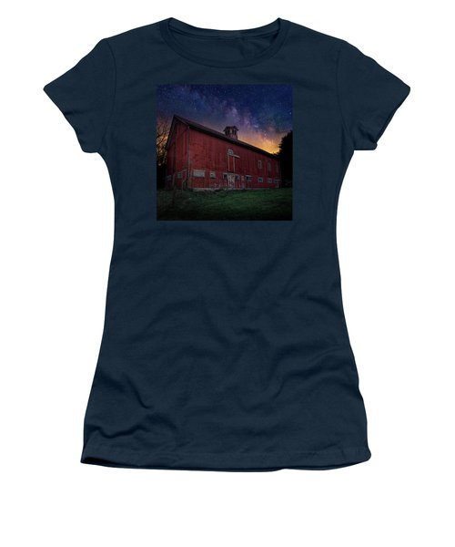Women's T-Shirt (Junior Cut) featuring the photograph Cosmic Barn Square by Bill Wakeley