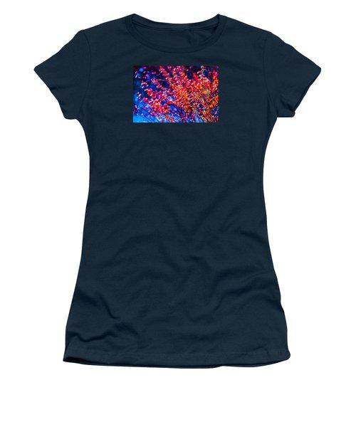 Women's T-Shirt (Junior Cut) featuring the photograph Cotoneaster In Winter by Alexander Senin