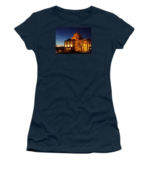 Courthouse At Night Women's T-Shirt (Junior Cut) by Christina Verdgeline