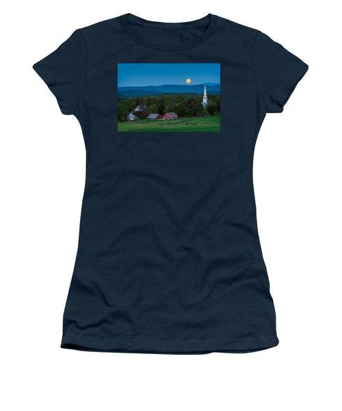 Cow Under The Moon Women's T-Shirt