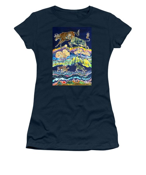 Cows Jumping Over The Moon Women's T-Shirt (Athletic Fit)