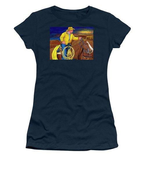 Cracker Cowboy Sunrise Women's T-Shirt (Athletic Fit)