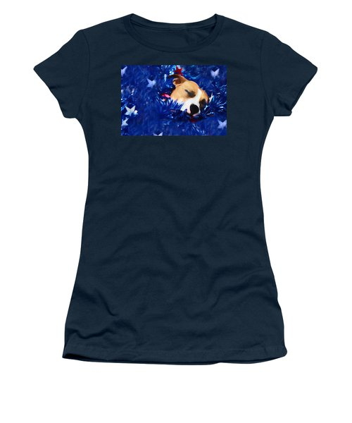 Women's T-Shirt (Junior Cut) featuring the photograph Cradled By A Blanket Of Stars And Stripes by Shelley Neff