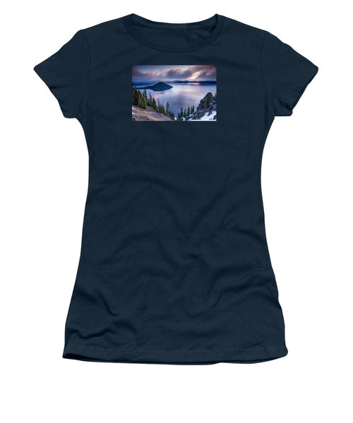 Crater Lake Spring Morning Colors Women's T-Shirt (Junior Cut) by Greg Nyquist