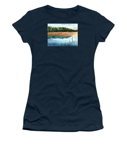 Crawford Lake Morning Women's T-Shirt (Junior Cut) by LeAnne Sowa