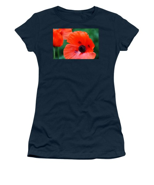 Crepe Paper Petals Women's T-Shirt (Junior Cut) by Debbie Oppermann