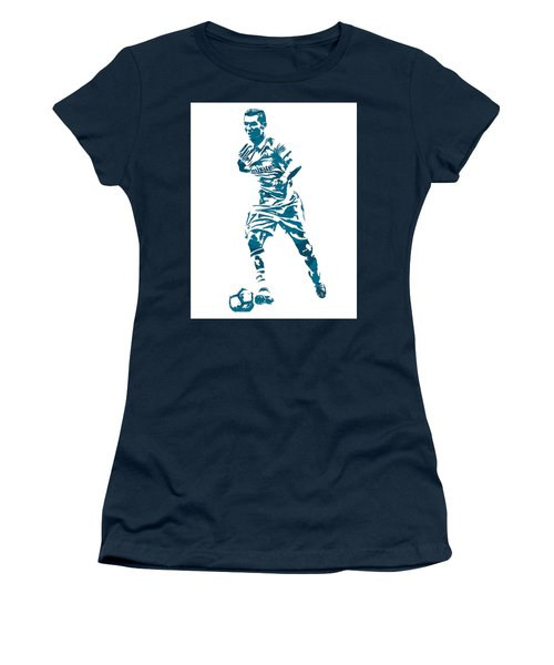 Cristiano Ronaldo Real Madrid Pixel Art 3 Women's T-Shirt (Athletic Fit)