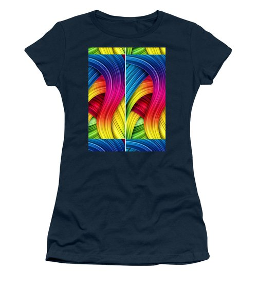 Curved Abstract Women's T-Shirt (Athletic Fit)