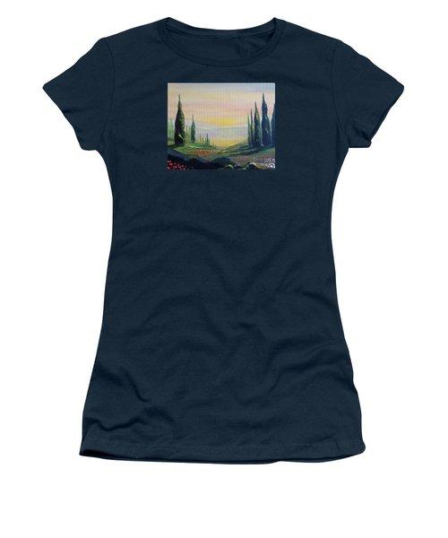 Cypress Dawn Landscape Women's T-Shirt (Athletic Fit)