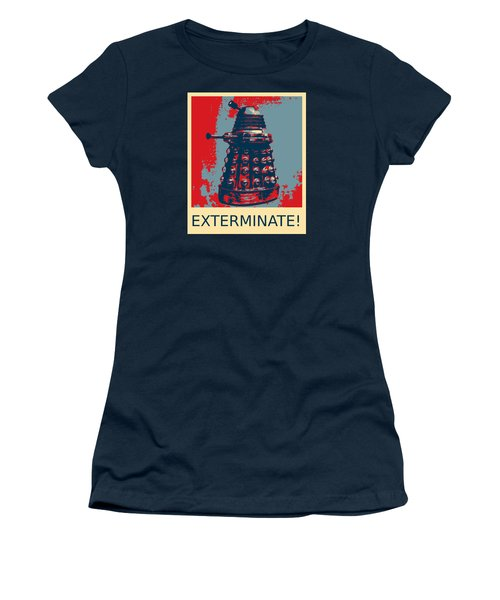 Dalek - Exterminate Women's T-Shirt (Junior Cut) by Richard Reeve