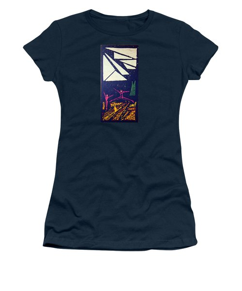 Women's T-Shirt (Junior Cut) featuring the mixed media Dancing Under The Starry Skies by J R Seymour