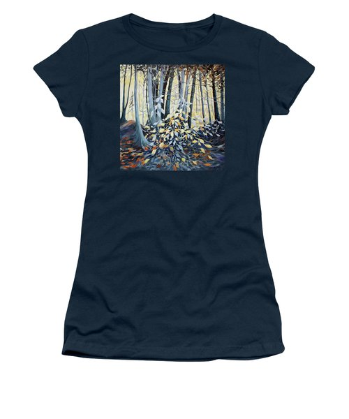Women's T-Shirt (Junior Cut) featuring the painting Natures Dance by Joanne Smoley