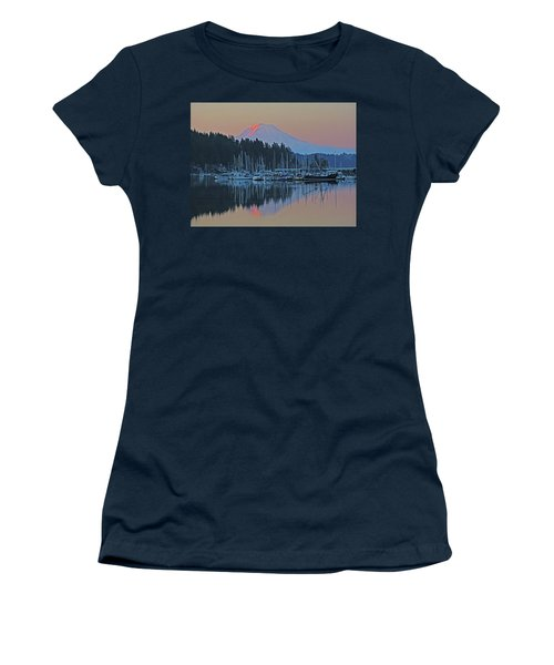 Women's T-Shirt (Junior Cut) featuring the photograph Dawn At Gig Harbor by Jack Moskovita
