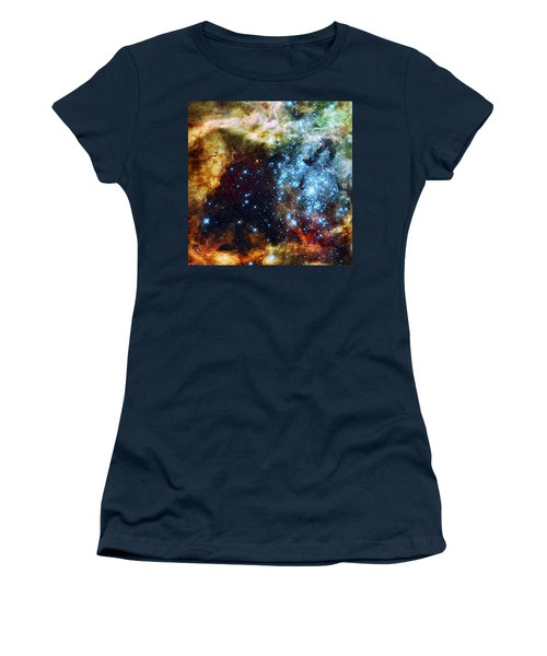 Deep Space Fire And Ice 2 Women's T-Shirt (Junior Cut) by Jennifer Rondinelli Reilly - Fine Art Photography