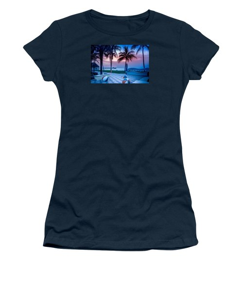 Deerfield Beach Fl Fishing Pier Women's T-Shirt (Athletic Fit)