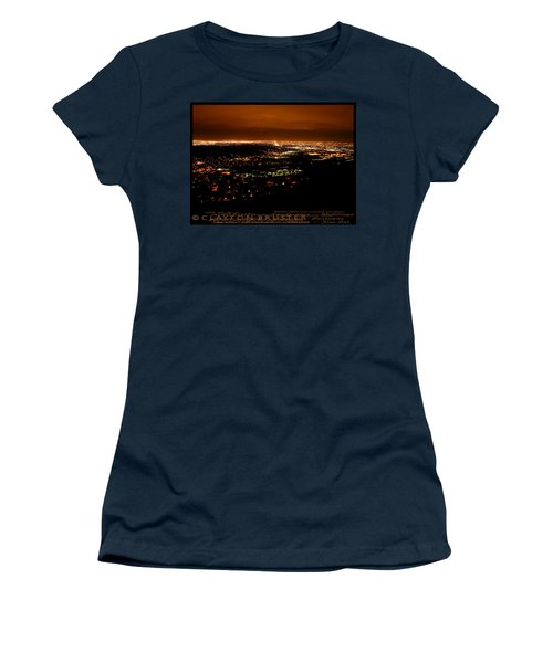 Denver Area At Night From Lookout Mountain Women's T-Shirt