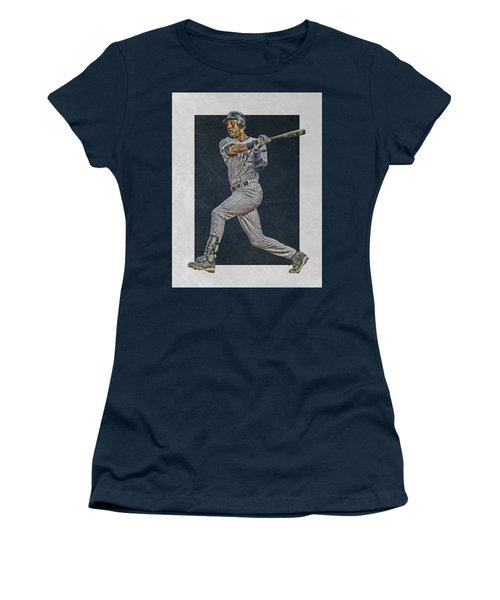 Derek Jeter New York Yankees Art 2 Women's T-Shirt