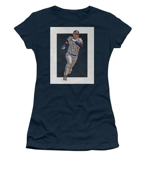 Derek Jeter New York Yankees Art 3 Women's T-Shirt