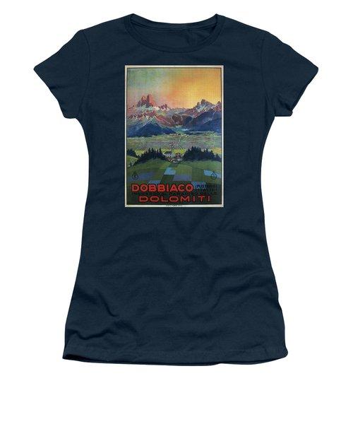 Dobbiaco Dolomiti - Italian Dolomites - Vintage Travel Poster Women's T-Shirt