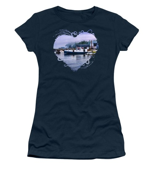 Door County Gills Rock Fishing Village Women's T-Shirt (Junior Cut) by Christopher Arndt