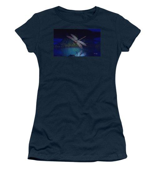 Dragonfly Night Reflections Women's T-Shirt