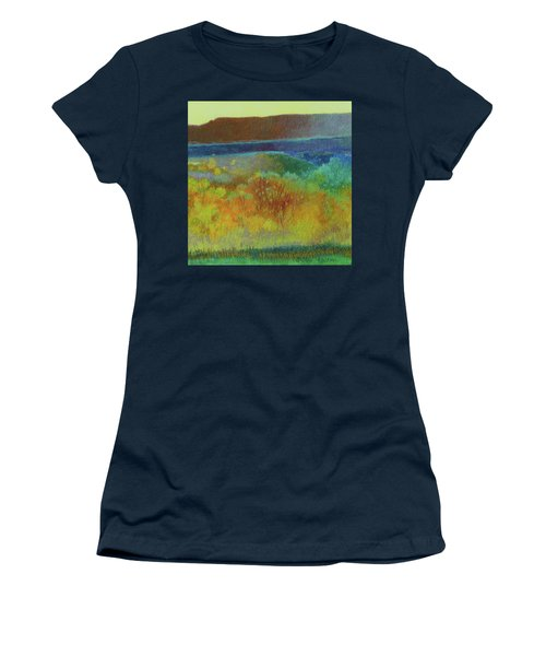 Women's T-Shirt featuring the painting Dream Of Dakota West by Cris Fulton