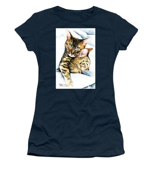 Dreamland - Bengal And Savannah Cat Painting Women's T-Shirt