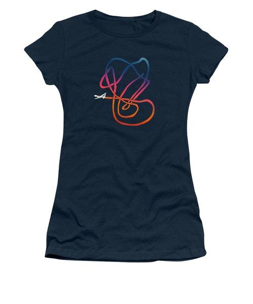 Drunk Drone Women's T-Shirt (Junior Cut) by Illustratorial Pulse
