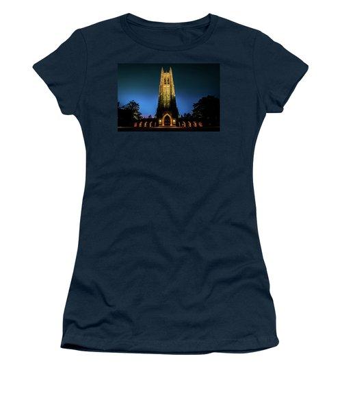 Duke Chapel Lit Up Women's T-Shirt (Athletic Fit)