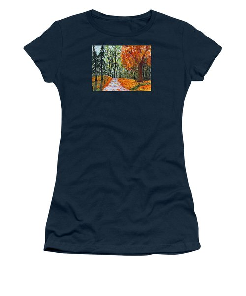 Women's T-Shirt (Junior Cut) featuring the painting Early October by Jack G  Brauer