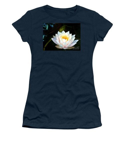 Elegant White Water Lily Women's T-Shirt (Athletic Fit)