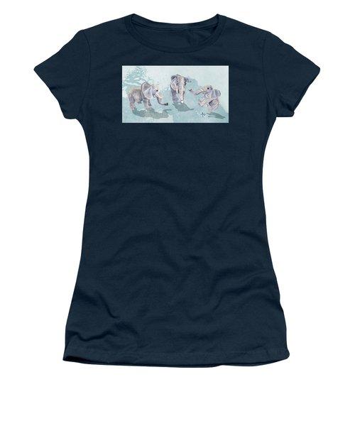 Elephants In Blue Women's T-Shirt