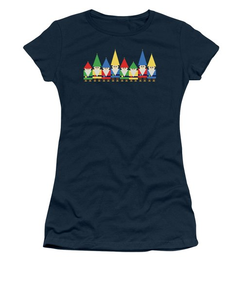 Elves On Blue Women's T-Shirt