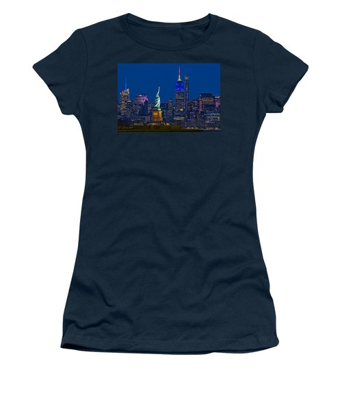 Empire State And Statue Of Liberty II Women's T-Shirt