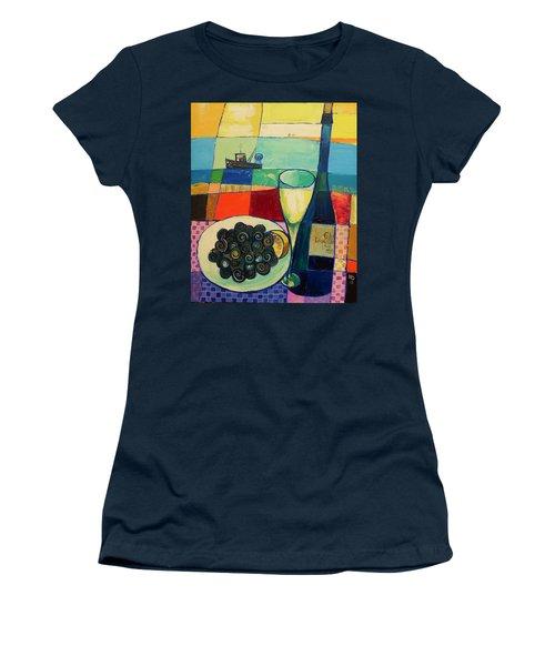 Escargot Women's T-Shirt (Junior Cut) by Mikhail Zarovny
