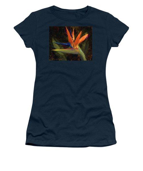 Extravagance - Tropical Bird Of Paradise Flower Women's T-Shirt