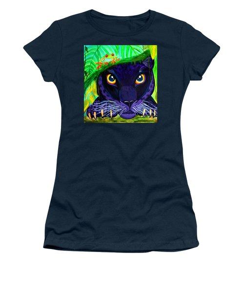 Eyes Of The Rainforest Women's T-Shirt (Junior Cut) by Nick Gustafson