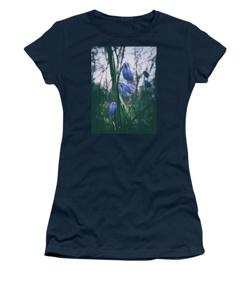 Fade Into The Blue Women's T-Shirt (Athletic Fit)