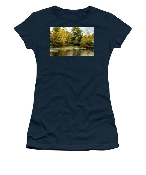 Fall Colour On The River Ness Islands Women's T-Shirt (Junior Cut) by Jacqi Elmslie