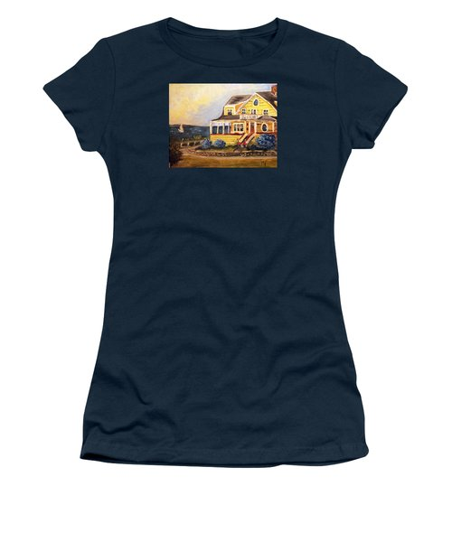 Falmouth Heights View Of Vineyard  Women's T-Shirt