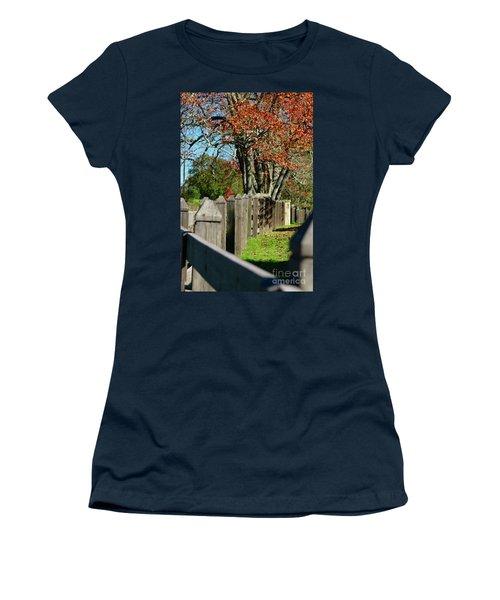Women's T-Shirt (Junior Cut) featuring the photograph Familiar Fall by Lori Mellen-Pagliaro