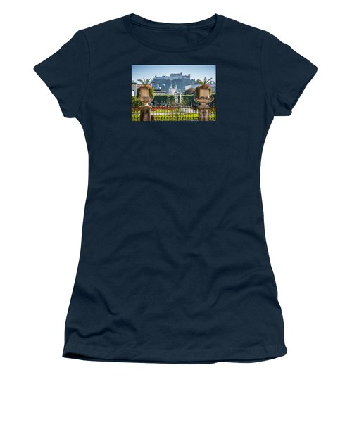 Famous Mirabell Gardens In Salzburg Women's T-Shirt (Athletic Fit)