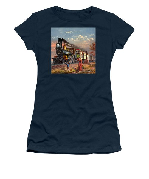 Fast Mail 1875 Women's T-Shirt (Junior Cut) by Padre Art