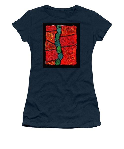 Faux Tile Painting One Women's T-Shirt (Athletic Fit)
