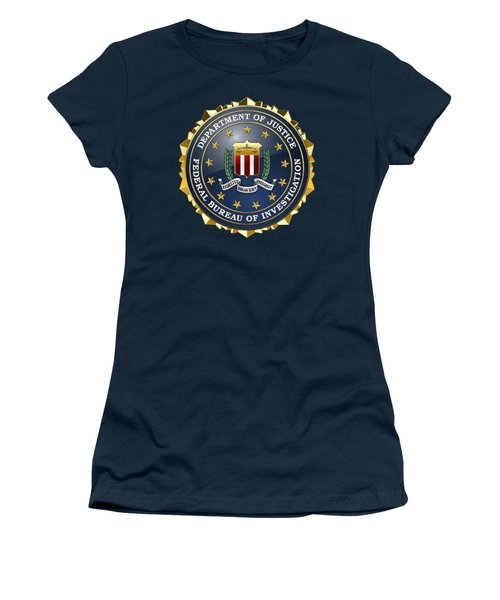 Federal Bureau Of Investigation - F B I Emblem On Blue Velvet Women's T-Shirt