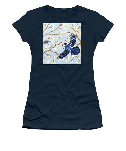 Women's T-Shirt (Athletic Fit) featuring the painting Feeding Time by Teresa Wing