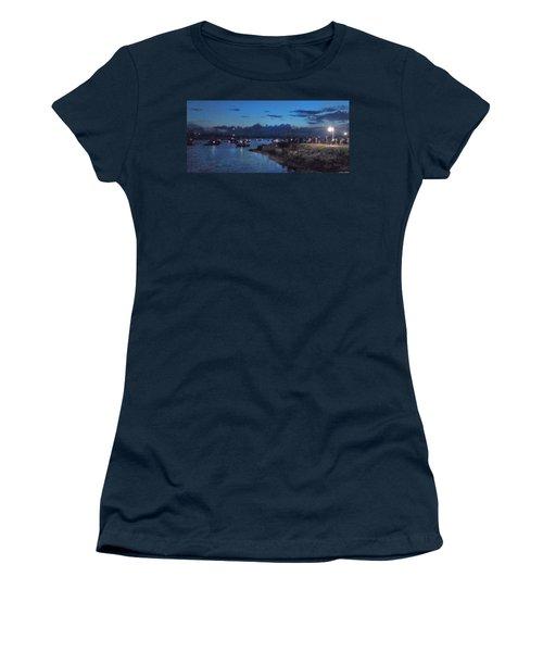 Women's T-Shirt (Junior Cut) featuring the photograph Festival Night Land And Shore by Felipe Adan Lerma