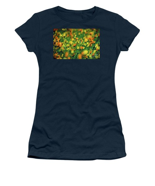 Field Of Orange And Yellow Daisies Women's T-Shirt